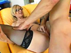 Nina Hartley, big cock, blonde, glasses, hardcore, lingerie, milf, pornstar, stockings, big tits