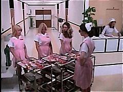 金髪, フェラチオ, ビンテージ, 射精, ハードコア, 看護師, レトロ