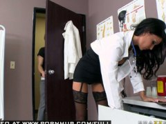 Jessica Jaymes, blowjob, brunette, cougar, deep, doctor, housewife, lingerie, milf, mom, mother