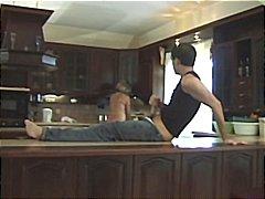 شرجى, في المطبخ, رجلان وامرأة, مص