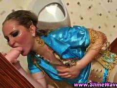 امناء الرجال على امرأة, القذف, إمناء على الوجه, فتشية