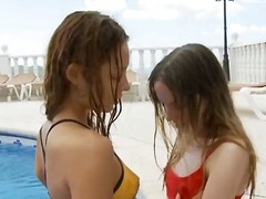 amateur, lul, lesbisch, tiener, europees
