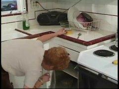 كلاسيكى, مسنات, في المطبخ, رجال كبار مع شابات, خبيرات