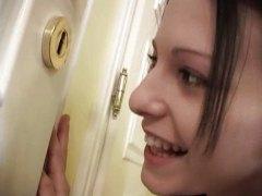 Mili Jay, rosto, jovem, esperma no rosto