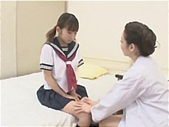 asian, japanese, lesbian, nurse, seduced, young, gets, make, gal