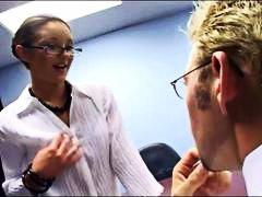 السمراوات, نظارات, كعوب, سيدات رائعات, في المكتب