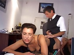 ass, german, group, hardcore, office, secretary, sexy, big tits, gets, redheaded