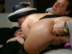 anal, blonde, group, italian, double penetration, double, gets, penetrated