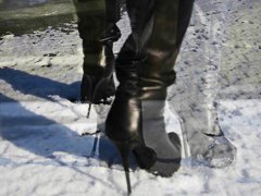 boots, french, heels, leather, teens, babes, high heels, high, ice, totally