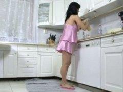 هواه, زوجان, القذف, فتشية, في المطبخ, واقعى, فموى