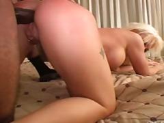 anal, big cock, blonde, blowjob, couple, interracial, masturbation, shaved, anal sex, piercings