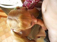 блондинки, на кухне, русские, молоденькие