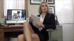gostosa, loura, caralho, humilhação, escritório, saia, beleza, striptease, divertido
