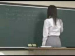 asian, behind, japanese, teacher, students, gets, from, nailed, one
