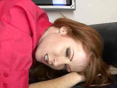 Nikki Rhodes, facial, redhead, cum swallowing, pov point of view, nikki rhodes, evelyn rhodes