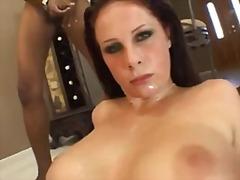 Gianna Michaels, zaadlozing, klaarkomen op het gezicht, groep, pornoster, rode haren, tietenklus