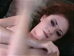 Chloe, anal, fishnet, lingerie, orgasm, redhead, skinny, stockings, lingerie-videos.com, chloe
