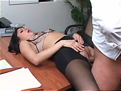 Sativa Rose, deepthroat, latina, office, pantyhose, pornstar, reality, nylons, sativa rose