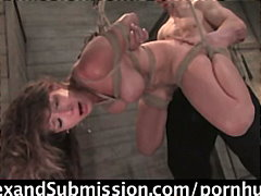 bdsm, blowjob, bondage, fetish, mmf, slave, tied, vibrator, toys, big-tits