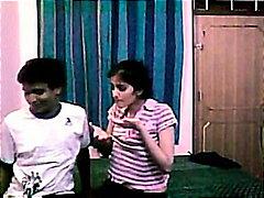 casal, feito em casa, indiano, estudante, jovem, boquete