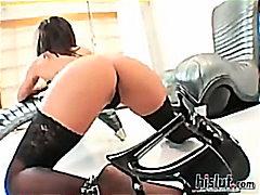 Sandra Romain, anaal, brunette, klaarkomen op het gezicht, interraciaal, latina, masturbatie