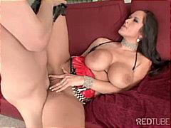 couple, pornstar, shaved, anal sex, caucasian, big tits, cum shot