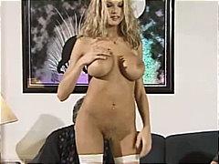 Briana Banks, blonde, blowjob, couple, lingerie, masturbation, pornstar, anal sex, toys, caucasian