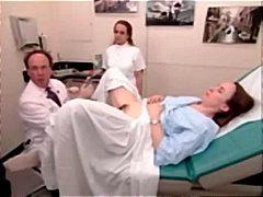 الطبيب, فتشية, طبيب النساء, كس مشعر, منظار
