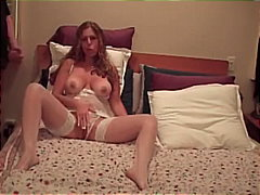 amateur, brunette, couple, cumshot, facial, handjob, homemade, jerking, lingerie, masturbation