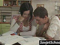السمراوات, روسيات, تنانير, مراهقات, بنات مدارس