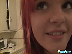 amateur, emo, kitchen, piercing, redhead, tattoo, girlfriend, home made