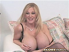 blowjob, busty, cougar, lick, mature, milf, oral, shaved, huge tits, boobs