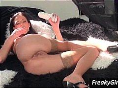 amateur, orgasme, vagina, alleen, masturbatie, speeltje, vingeren