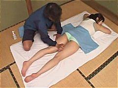 amadora, japonês, massagem