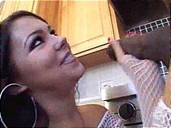 بنات جميلات, مص, السمراوات, ظرفاء, في المطبخ