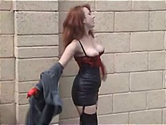 britânico, madura, mamãe sexy, nylon, ruiva