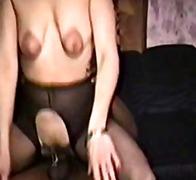 любительское, межрасовый секс, кончают внутрь