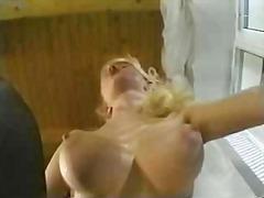 anal, blonde, cumshot, czech, handjob, natural boobs, nylon, sex, european, big tits