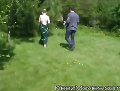 blonde, blowjob, gangbang, group, hardcore, public, teen, outdoors, teenager, keezmovies