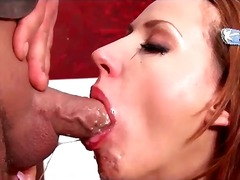 blowjob, brunette, deepthroat, gagging, european, facefuck, messy