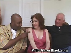 busty, hairy, interracial, redhead, swinger, wife, share