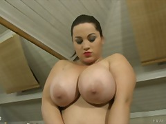 brunette, chubby, nipples, solo, boobs, big tits, natural tits