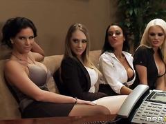 سحاقيات, سيدات رائعات, في المكتب, نجوم الجنس, واقعى