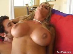 gostosa, loura, hardcore, mamãe sexy, collant, estrela pornô, meia fina, peitões