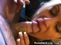 blowjob, cumshot, facial, fetish, hardcore, jizz, oral, smoking, sperm, gagging