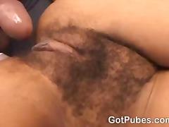 haarig, natürliche brüste