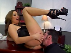 ass, femdom, fetish, hardcore, heels, office, oral, pussy-eating, ass-licking, high