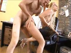 anaal, kont, babe, blond, pijpen, hard, kantoor, pornoster, secretaresse