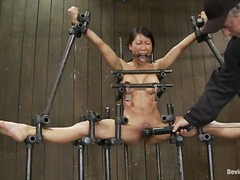 asian, bdsm, fetish, humiliation, orgasm, shaved, slave, chained