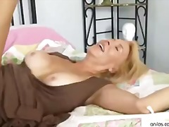blonde, blowjob, cougar, cumshot, hardcore, mature, cum-shot, face-fucking, hairy-pussy, anilos.com